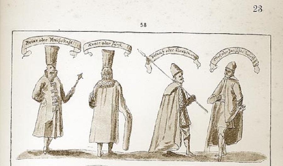 1661 Мужскiе костюмы русскiе и инородческiе Альбомъ Мейерберга 1661-62 part.jpg