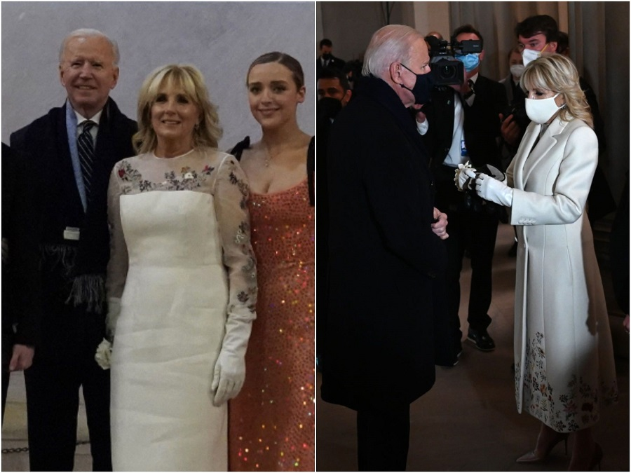 4 Jill Biden marked her first evening as first lady in a dress with flowers from every US state..jpg