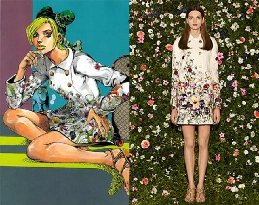 5 Gucci collaborated with Jojo's Bizarre Adventure creator, Hirohiko Araki to promote there 2013 Spring Cruise Collection.jpg