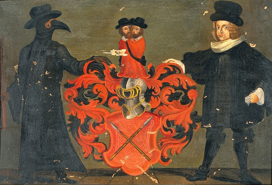 1 Theodore Zwinger III (1658-1724) coat of arms with portrait. Oil painting..jpg