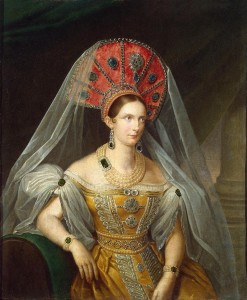 2 Alexandra_Fedorovna_in_yellow_Russian_dress_(1836,_A.Malyukov,_Hermitage).jpg