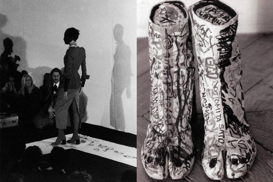 3 Maison Martin Margiela Spring Summer 1989 Left, original runway Graffiti Tabi Boots, 1990 right.jpg