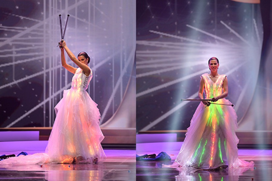 0 Finland – Representing the country's progress, the costume is animated with light-emitting diode (LED) lights whose coding took eight months to cre…
