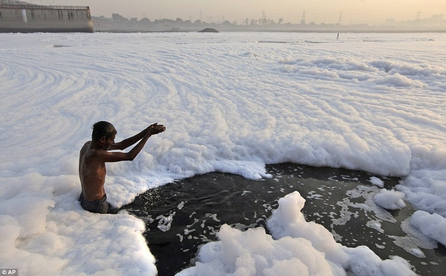 2  Diving in This Hindu doesn't seem to mind the foam caused by industrial and residential.jpg