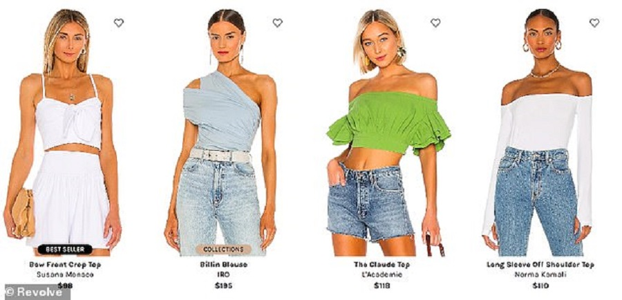 1  There are one-sleeve bodysuits, off-the-shoulder sweaters, corsets, bandeaus, mockneck blouses, halters, sleeveless shell tops, tank tops, and col…