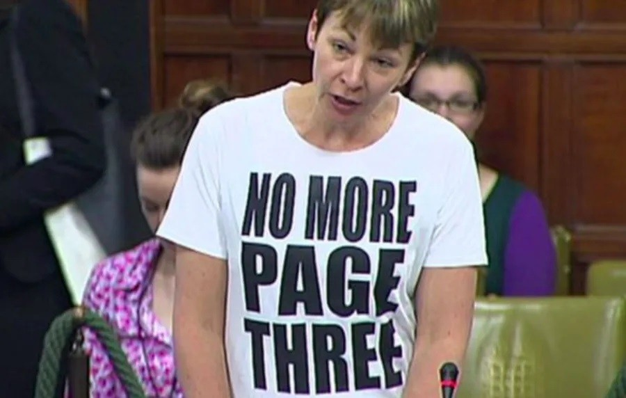 5 Green MP Caroline Lucas was told to remove a slogan T-shirt during a debate in Westminster Hall.jpg