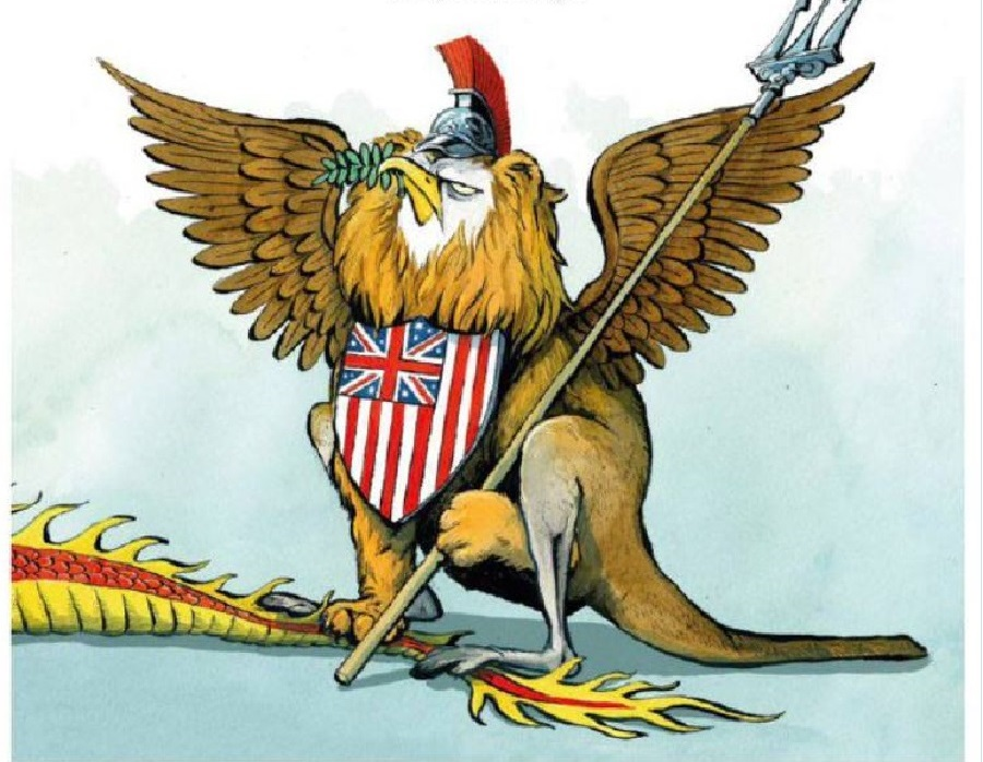 Американский орел, британский лев и австралийский кенгуру слились в геральдическом восторге от создания нового военного союза.jpg