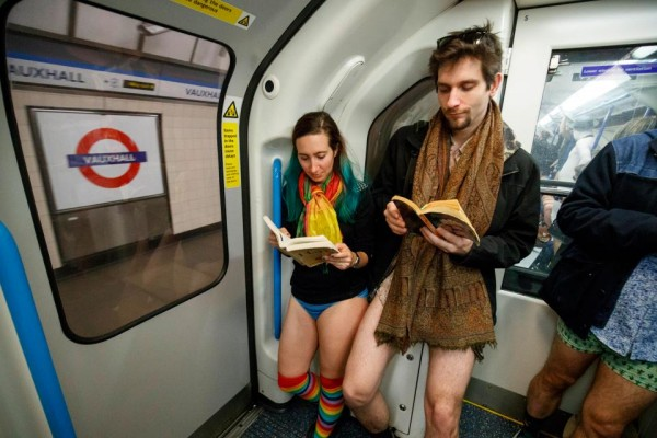 31 LGTB  In a bid to remain low key, these participants read books on the tube.jpg