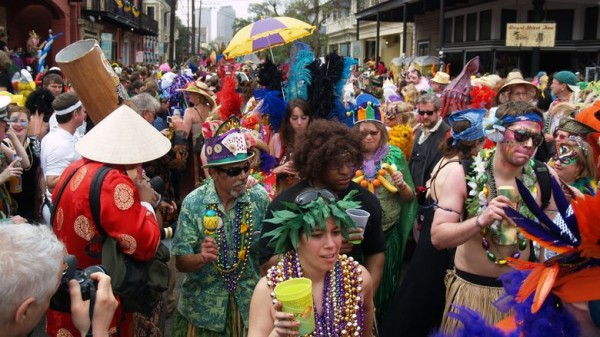 21  Costumed crowds gather along Frenchmen Street on Mardi Gras Day.jpg