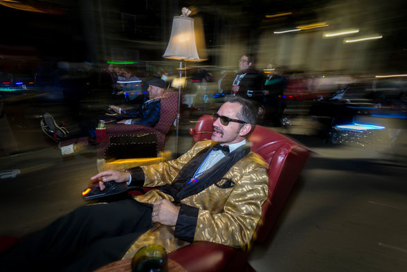 22  The Laissez Boys hit the streets in their motorized recliners during the Muses and Tucks parades..jpg