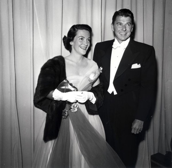 Ronald and Nancy Reagan at the Academy Awards, early 1950s..jpg