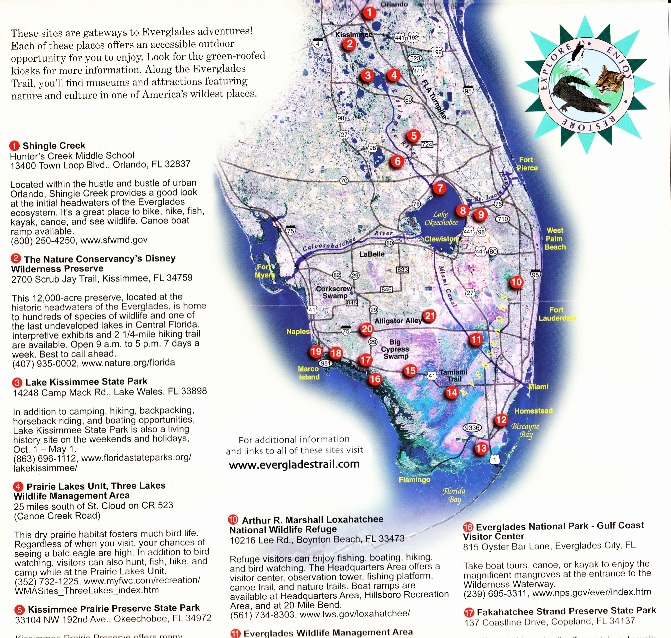 Everglades Trail brochure