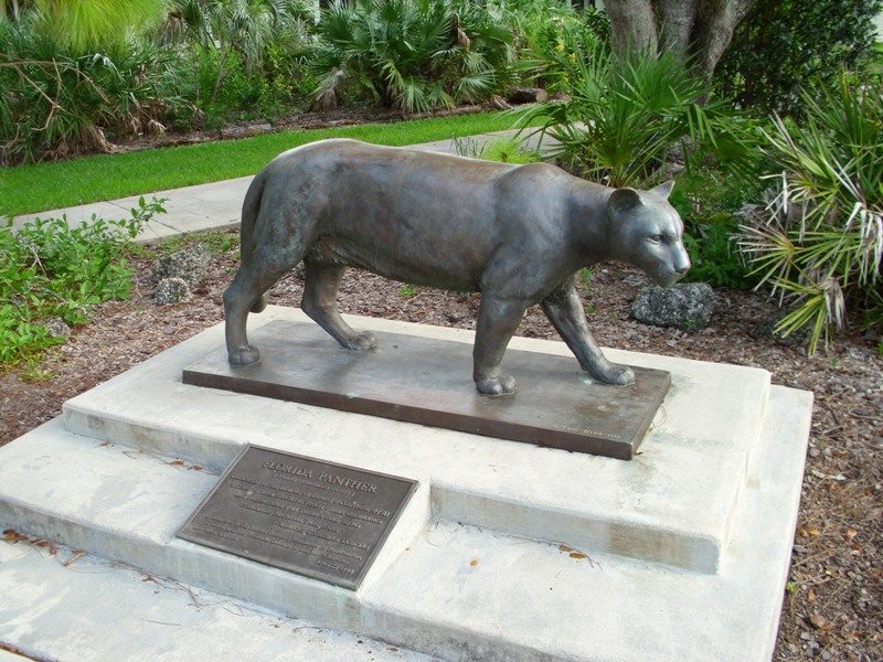 fat panther statue