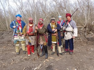 Group shot of Native reenactors
