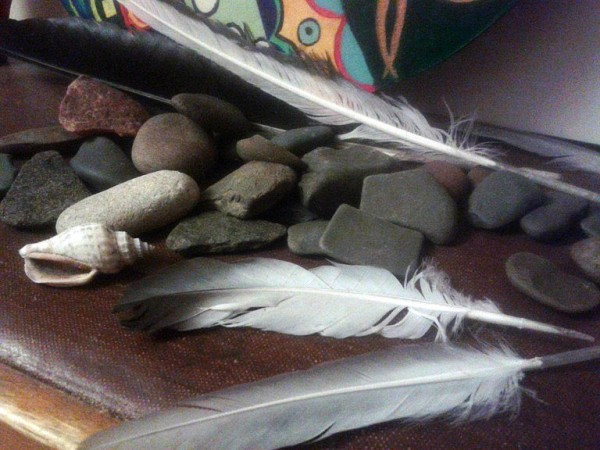 stones and feathers