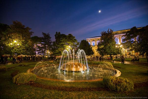 Верона парк фонтаны