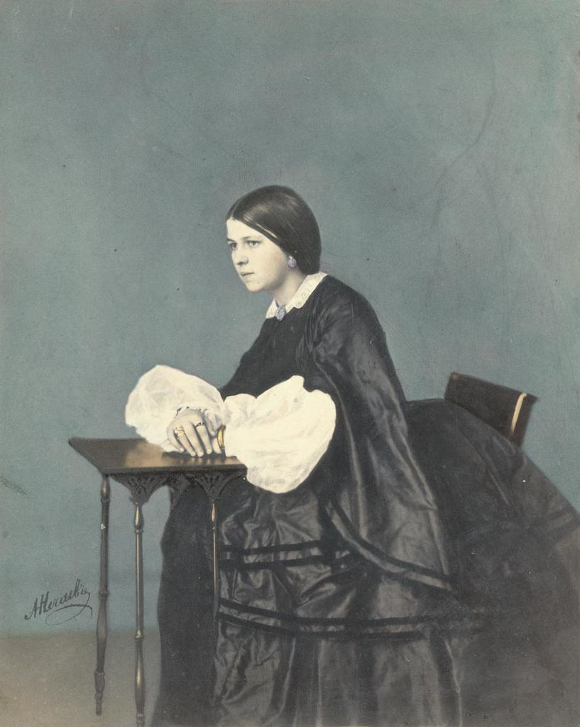 A. Nechayev Portrait of girl. 1860