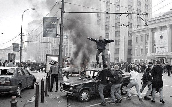Массовые беспорядки в Москве после вылета сборной России по футболу с Чемпионата Мира 2002 года