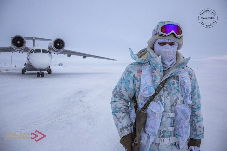 Военнослужащий Погранслужбы ФСБ России в Арктике