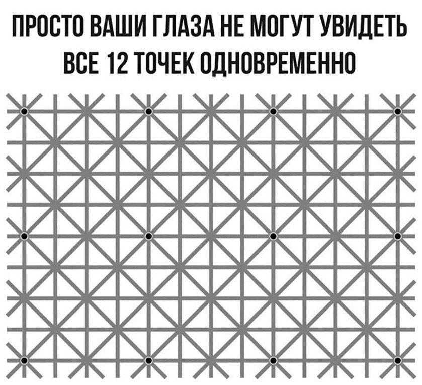 Просто ваши глаза не могут увидеть все 12 точек одновременно