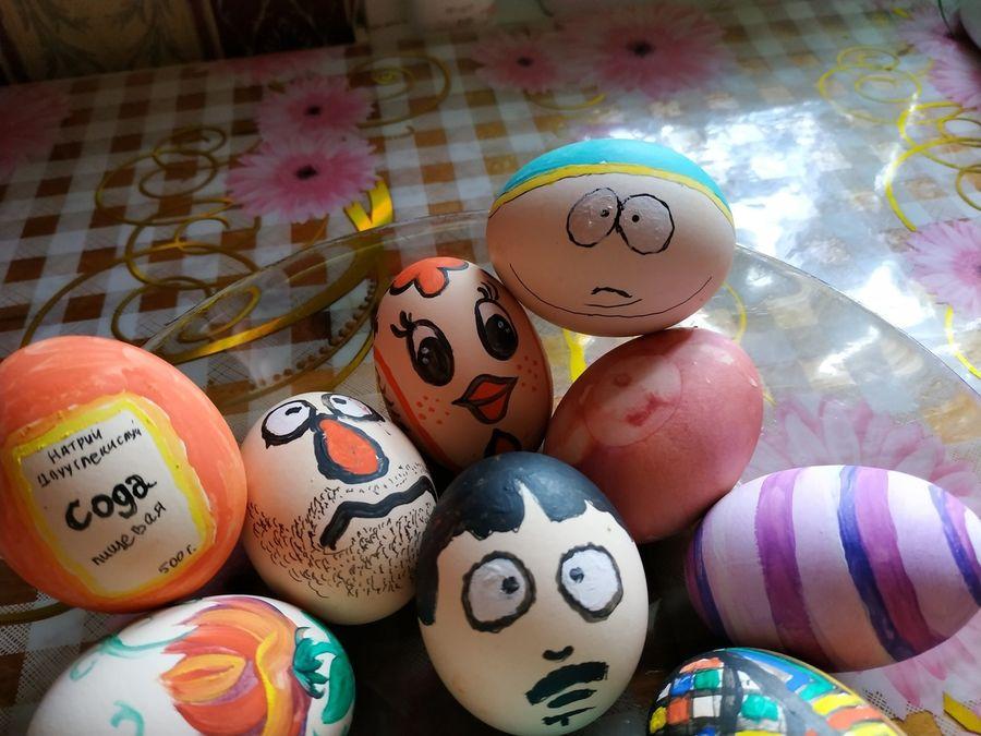 Жена попросила покрасить яйца