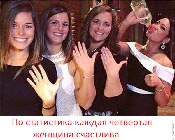 По статистика каждая четвертая женщина счастлива