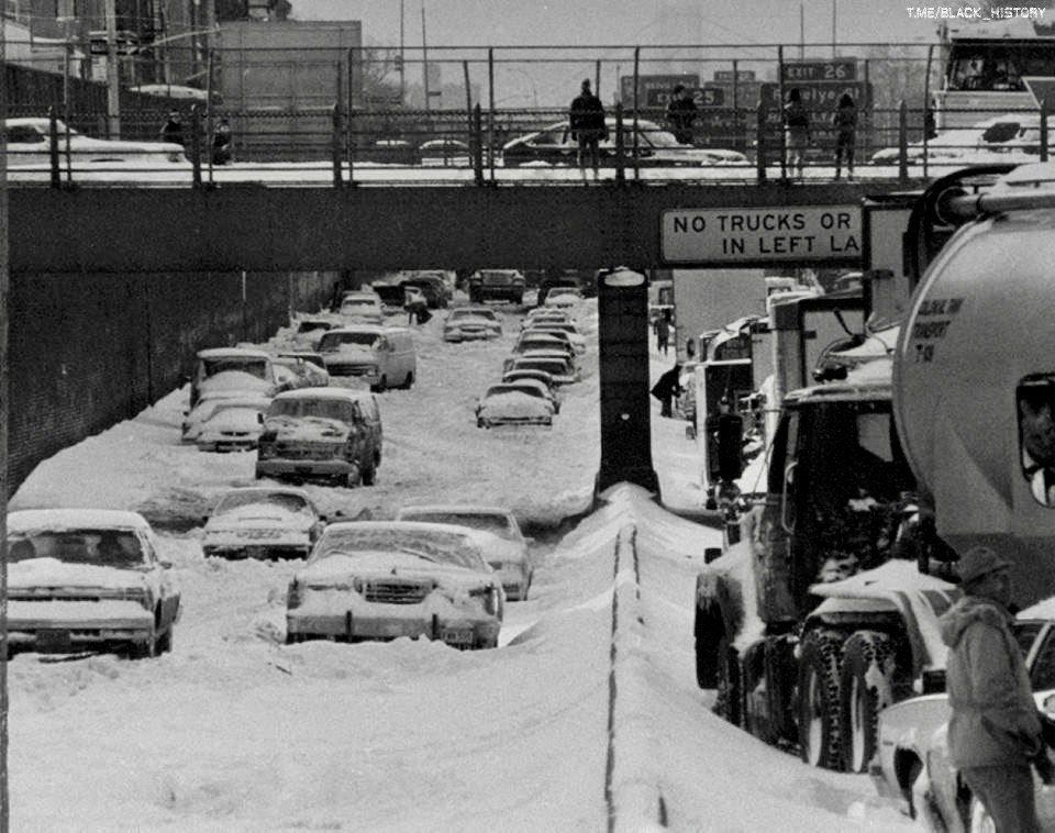 Снежные заносы в Нью-Йорке, США, 1983 г.
