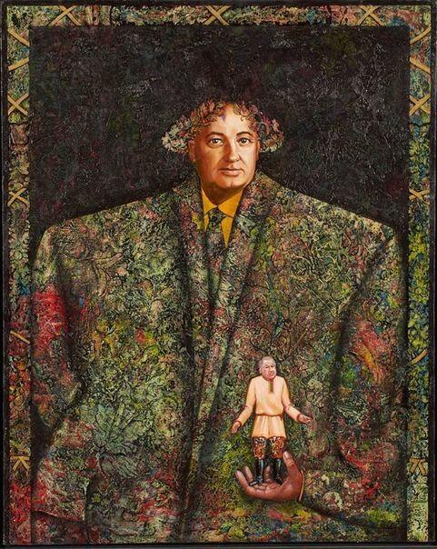 «Михаил Сергеевич и Борис Николаевич», Дмитрий Кантеров, 1990-й г.