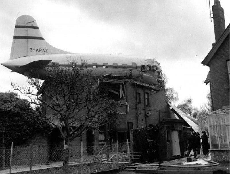 Самолёт, который врезался в дом. Великобритания, 27 марта 1963 г.
