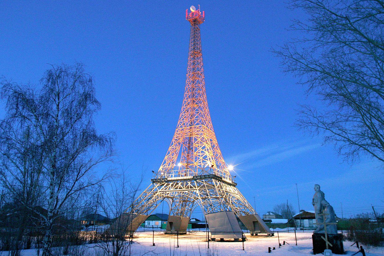 Вышка сотовой связи в селе Париж Челябинской области