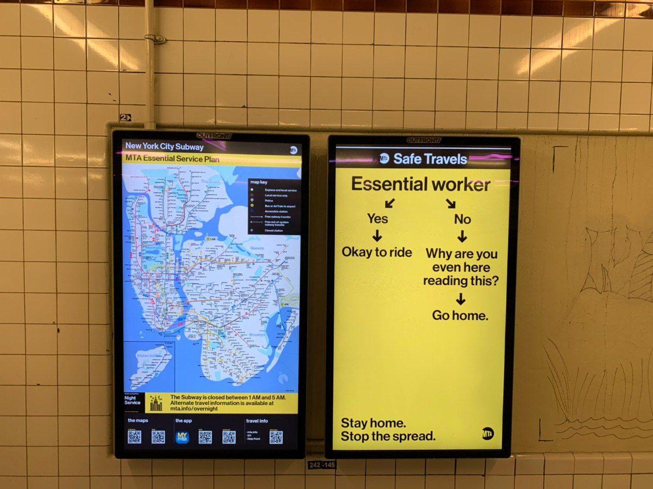 Новая навигация в нью-йоркском метро или простой способ определить, нужно ли вам в подземку