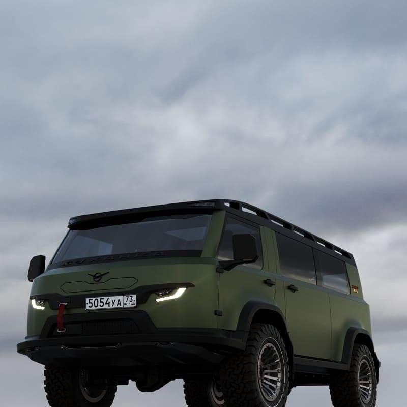 Эскиз нового дизайна УАЗ-452 («буханки»)