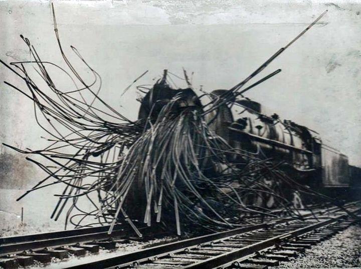 Так выглядит паровоз после взрыва котла