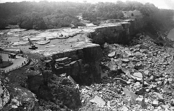 Ниагарский водопад без воды, 1969 год