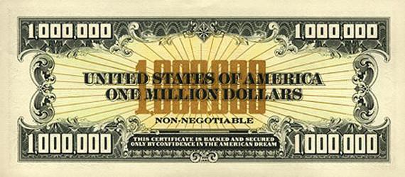 Купюра / банкнота 1000000 долларов США, оборот