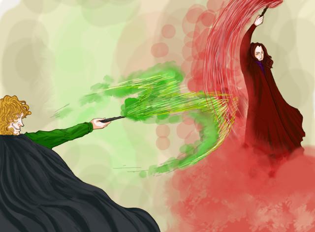 Art grindelwald dumbledore fight grindelwald stealing for Grindelwald s wand