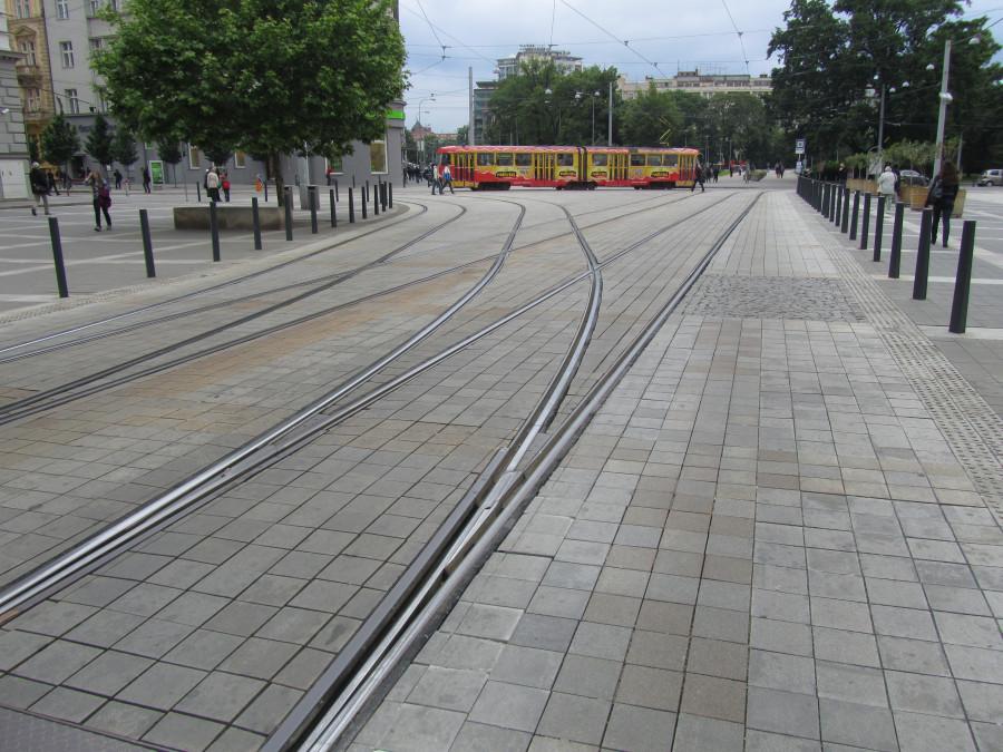 Трамвайные рельсы в Брно