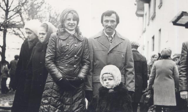 7 ноября 1976 года. Демонстрация. Мама, папа и я.