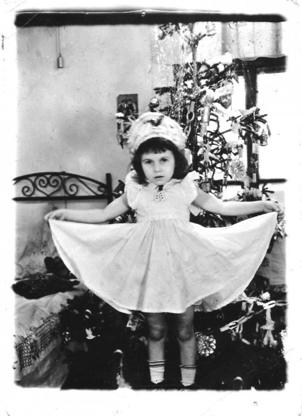 Snowflake Lena New Year 1957 .Veselovka