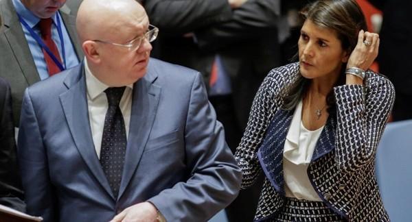 "Фото дня. ""Разговор"" после заседания Совета Безопасности ООН"