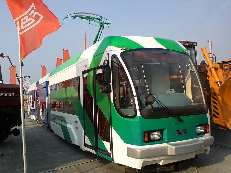 Трамвай УТМ 71-409 на выставке
