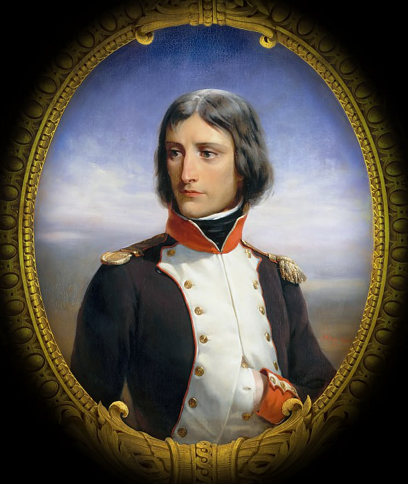 "Версальский дворец - Феликс-Анри-Эммануэль Филиппото -- Наполеон Бонапарт (1769-1821), лейтенант первого батальона Корси"""
