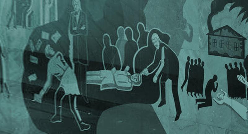 """Панно """"Бесы"""" на станции метро Достоевская в Москве. А где Петруша?"""