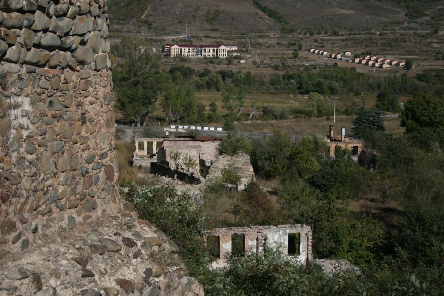 Разрушенные грузинские сёла Джава - Цхинвал