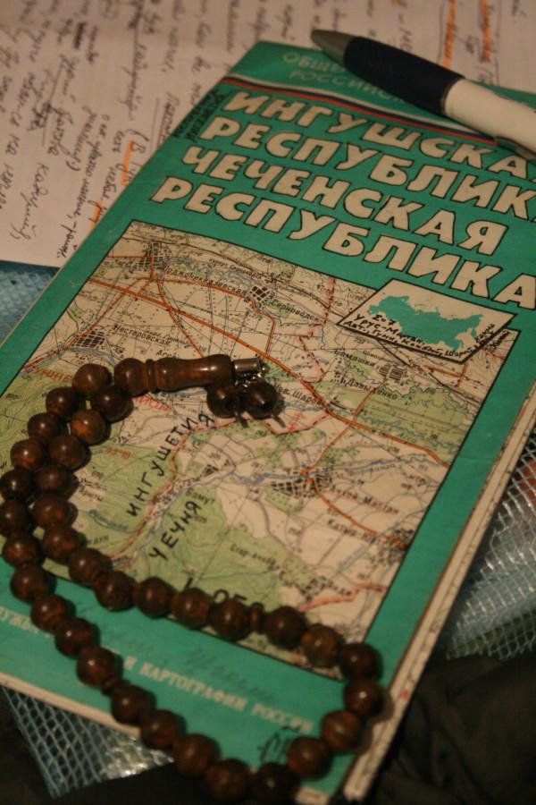 Чечня и Ингушетия. Походная карта московского издания (1995-99)