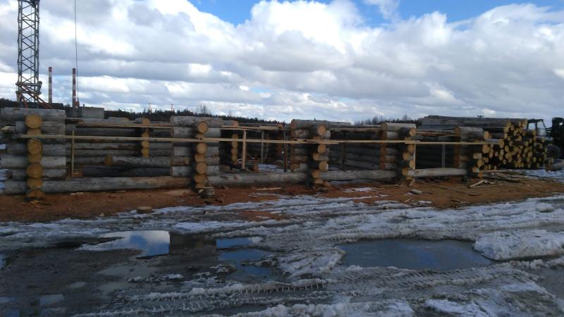Строительство из кело-древесины.