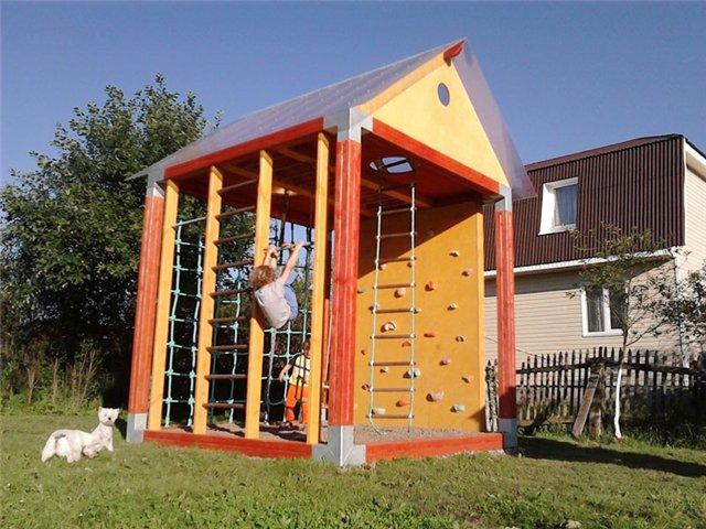 Детские спортивные комплексы на дачу своими руками