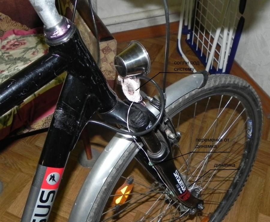 Друзья подогнали велосипед