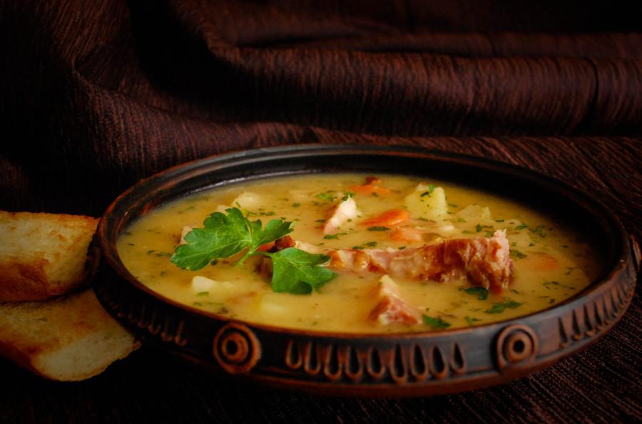 Гороховой суп с копченостями пошаговый с фото