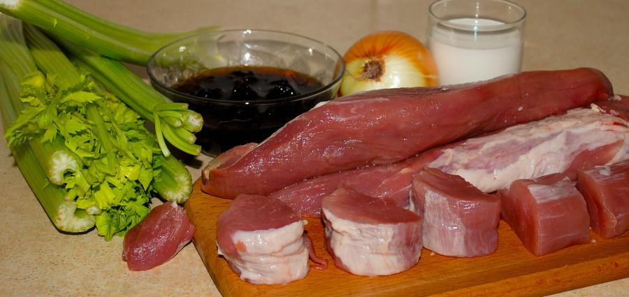 Свинная филейная вырезка с черносливом